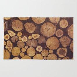 pile of wood Rug