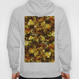 Solid Gold - Abstract, metallic gold textured pattern Hoody
