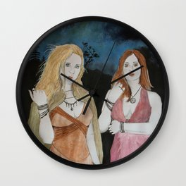 Velleda und Aurinia Wall Clock
