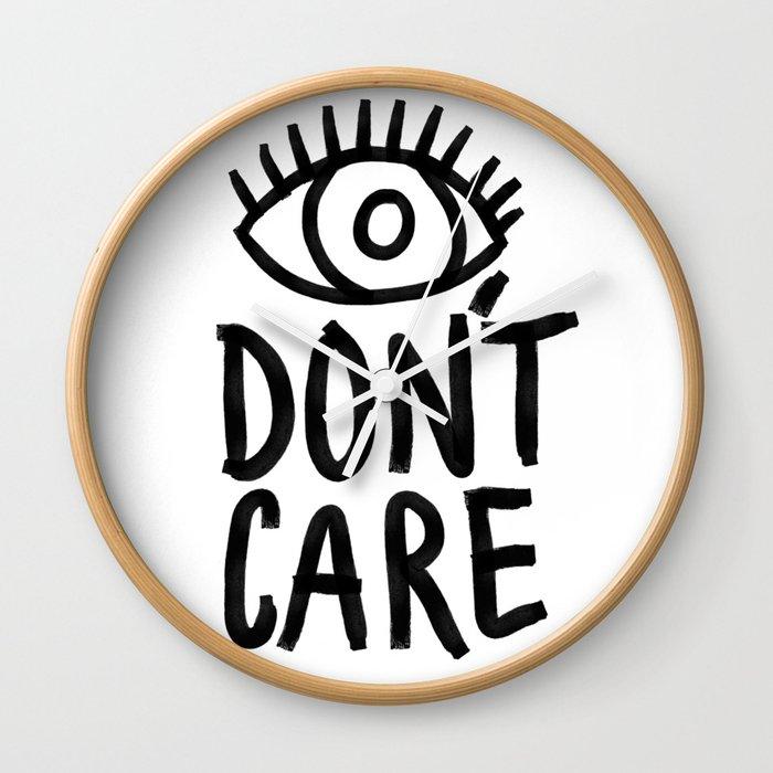Eye Don't Care Wall Clock