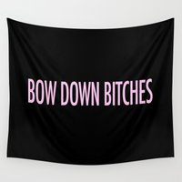 bow Wall Tapestries featuring Bow Down by kirstenariel