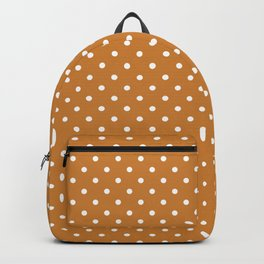 Dots (White/Bronze) Backpack
