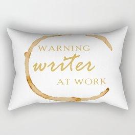 Warning Writer at Work Rectangular Pillow