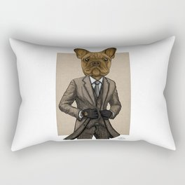 Much Handsome, Dapper Doge Rectangular Pillow