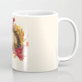 Hedgehog in Autumn Leaves Coffee Mug