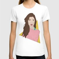 80s T-shirts featuring 80s Gal by Levi Allred