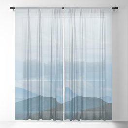 Blue Ridge Mountain Magick Digital Nature Landscape Photography Sheer Curtain