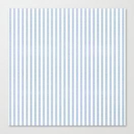 FADED DENIM CHAMBRAY STRIPES Canvas Print