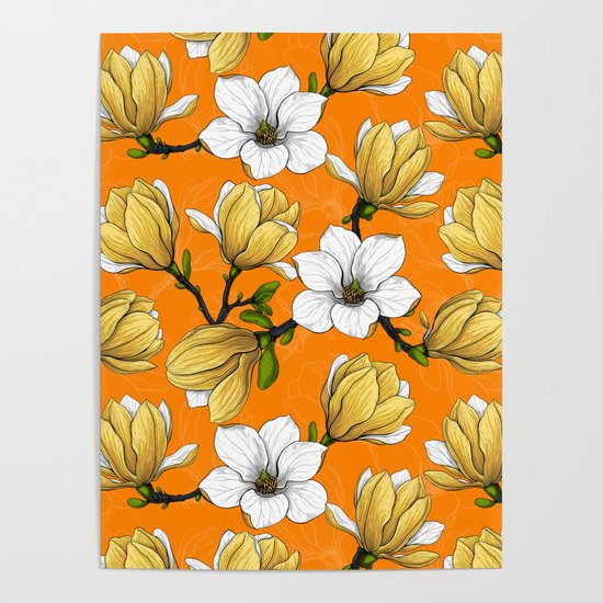Magnolia garden in yellow    by katerinamitkova