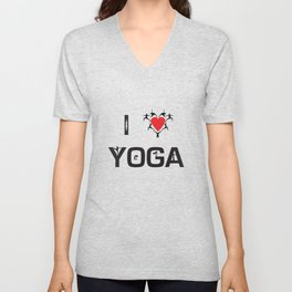 I heart Yoga Unisex V-Neck