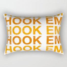HOOK EM HORNS UNIVERSITY OF TEXAS AT AUSTIN  - Have A Nice Day Plastic Rectangular Pillow