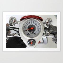 indicator speed 3 Art Print