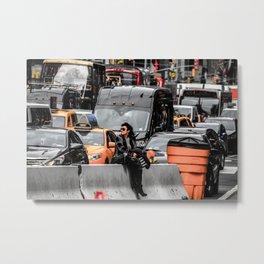 Black and colour New York City USA artwork Metal Print