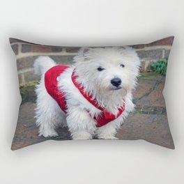 Christmas pup Rectangular Pillow