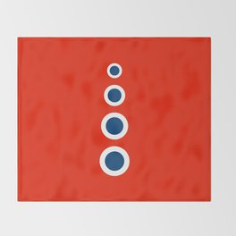 Retro Circles Pop Art - Red White Blue Series Throw Blanket
