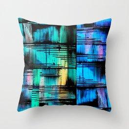 BlueBlueBlue Throw Pillow