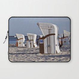 White Beach Chairs on the Isle of Ruegen Laptop Sleeve