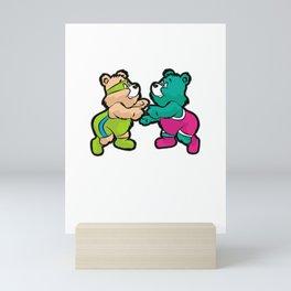 TEDDY BEAR WRESTLING Wrestler Mini Art Print
