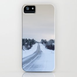 Icy Road in Finland iPhone Case