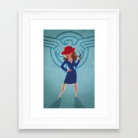 peggy carter Framed Art Prints featuring Agent Peggy Carter by Terry Blas