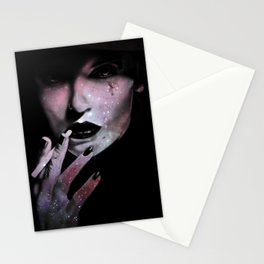 Space Smoker Stationery Cards