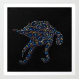 Blue-ringed Octopus Art Print