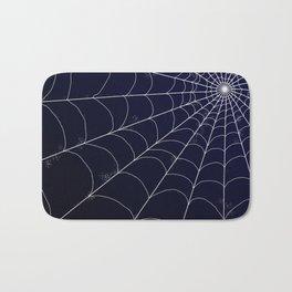 Spiderweb on Midnight Bath Mat