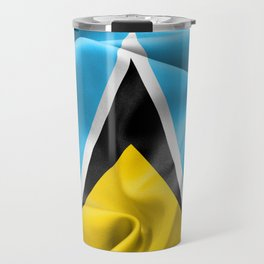 Saint Lucia Flag Travel Mug