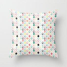 Brain Dots Throw Pillow