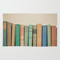 literary Area & Throw Rugs featuring Literary Gems I by Laura Ruth