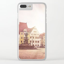 Freiberg, Germany Town Square Clear iPhone Case
