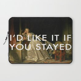 Stay for a Kiss Laptop Sleeve