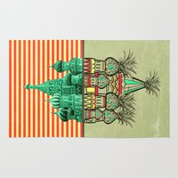 architecture Area & Throw Rugs featuring Pineapple architecture  by AmDuf