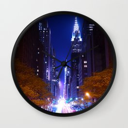 New York Night Life Wall Clock