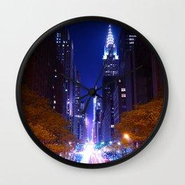 New York Night Life Wall Clock