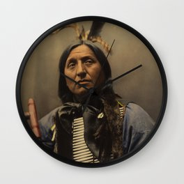 Left Hand Bear, Oglala Sioux chief Wall Clock