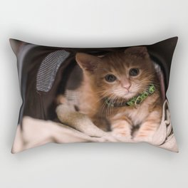 Leo Mar Suerte in his home. Rectangular Pillow