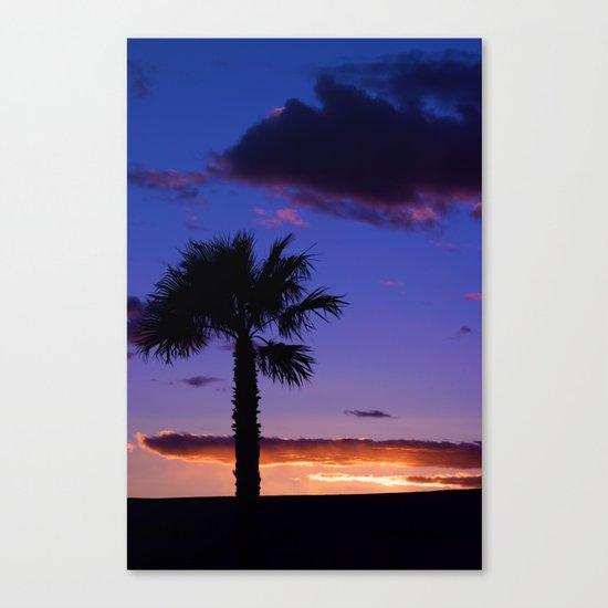 Palm Sunset - V Canvas Print