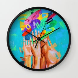 Its All In Your Head Wall Clock
