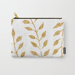 Gold Glitter Fronds Carry-All Pouch