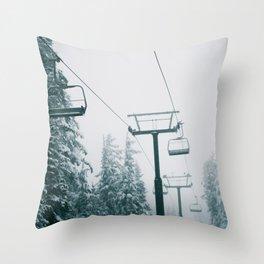Ski Lift II Throw Pillow