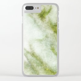 stained fantasy greenish veins Clear iPhone Case
