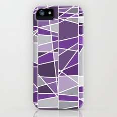 Purple and grey iPhone (5, 5s) Slim Case