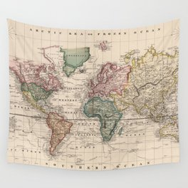 Maps Wall Tapestries Society6