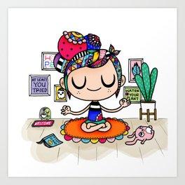 Buddles - Relax Art Print