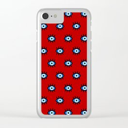 Evil Eye on Red Clear iPhone Case