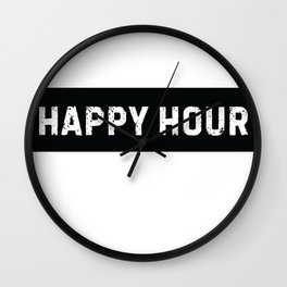 Stamp Series: HAPPY HOUR Wall Clock