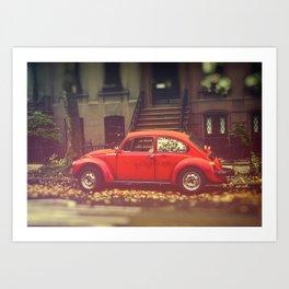 Old red beetle.. Art Print