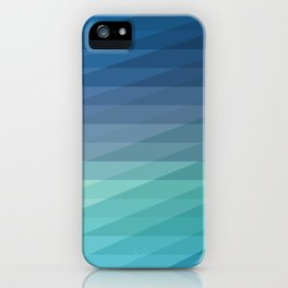Fig. 042 Blue Geometric Diagonal Stripes iPhone Case