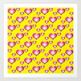 herzen collage Art Print